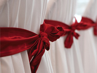 Chair cover hire with satin sashes