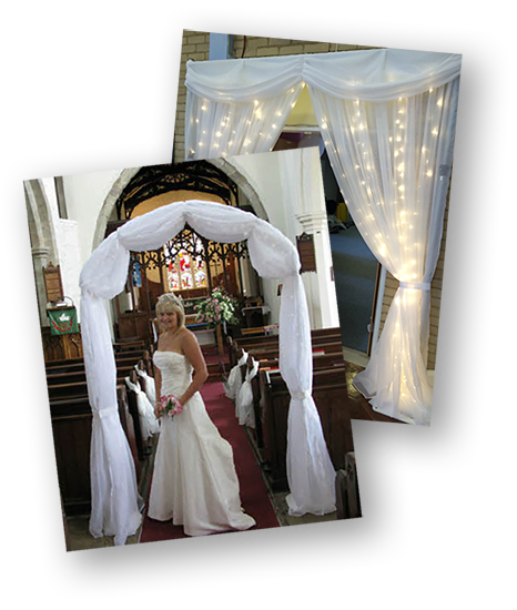 Wedding styling and decoration with Starlight backdrops.