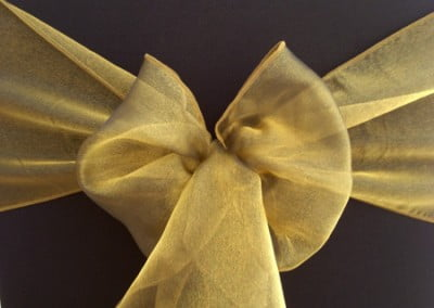 Black Victoria Gold Organza-Sash