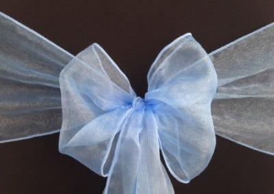 Periwinkle Blue Organza Sash