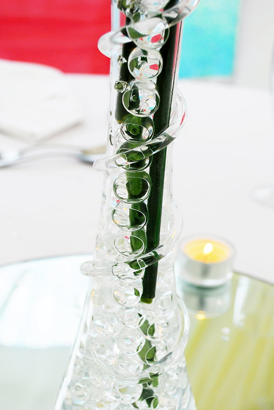 40cm lily vase wedding table display