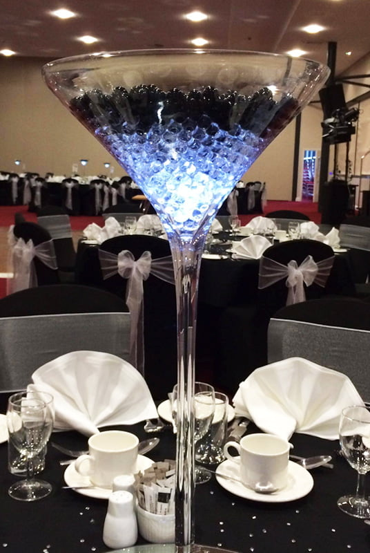 Hire table centrepieces deans chair covers