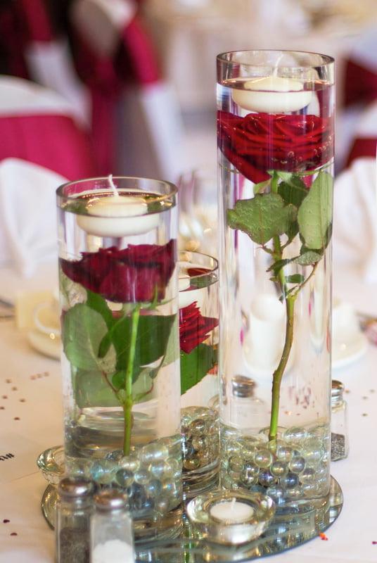 Cylinder vase centrepiece