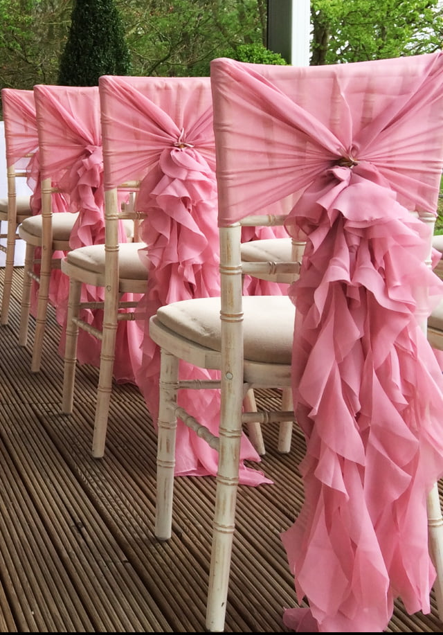 Ruffle hoods chair covers