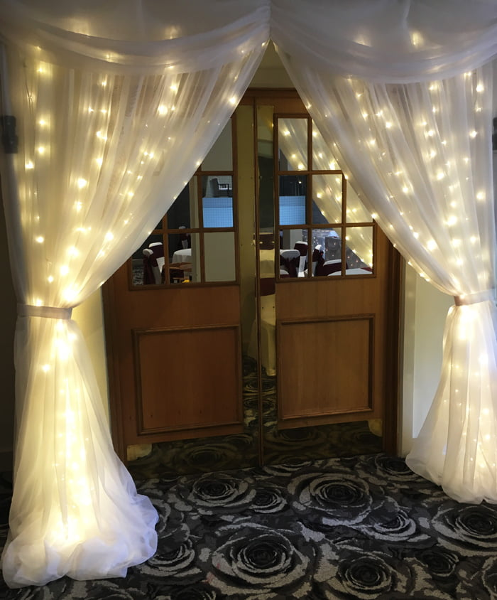Starlight double door curtain for hire