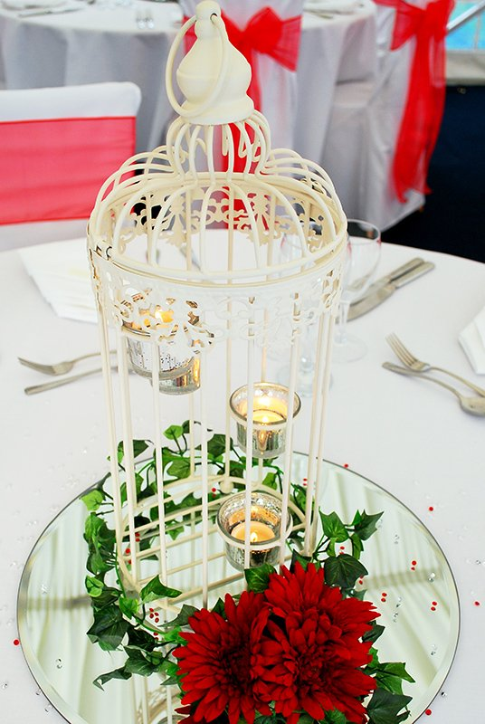 Tea lit bird cage Ivy flower
