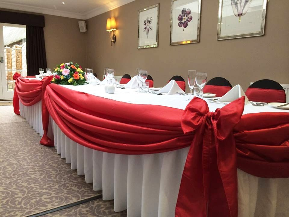 Top table swagging for hire