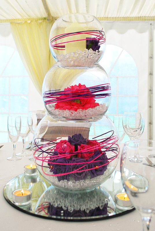 Triple bubble bowl centrepiece