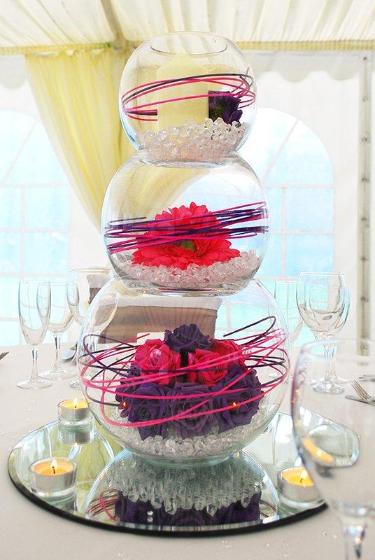 Triple bubble bowl centrepiece