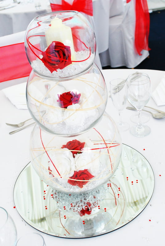 Triple bubble fishbowl centrepiece