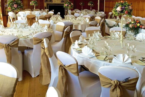 Chair covers, table swags & runners