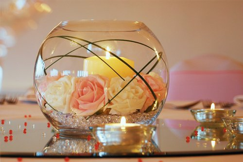 Beautiful wedding table centrepieces