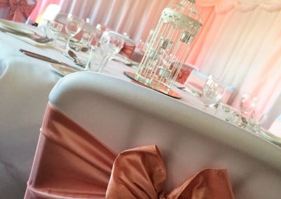 Wedding venue wall drapes