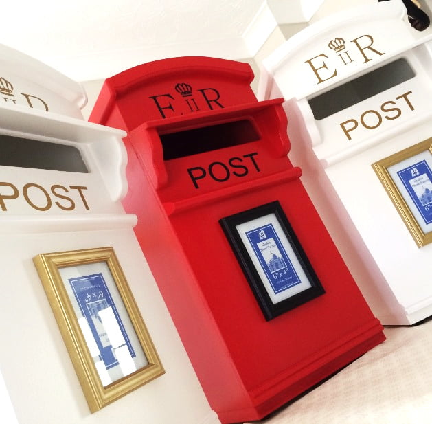 Wooden wedding post boxes for hire
