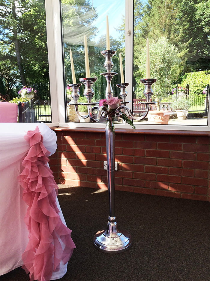 120cm tall candelabra for hire, Northamptonshire