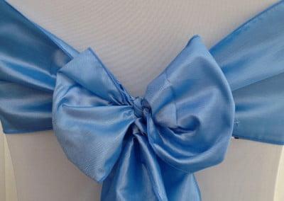 Blue Taffeta Sash