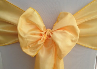 Canary Yellow Taffeta Sash