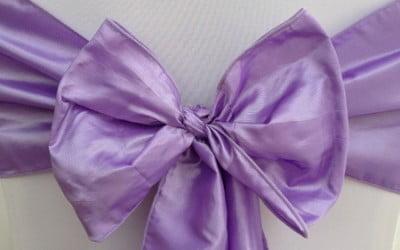 Lilac Taffeta Sash