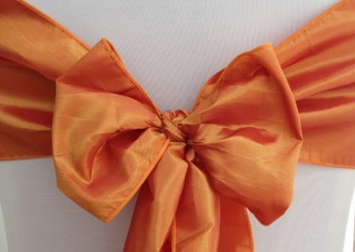 Orange Taffeta Sash