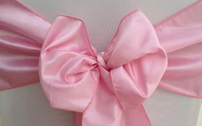 Pink Taffeta Sash