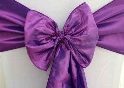Purple Taffeta Sash