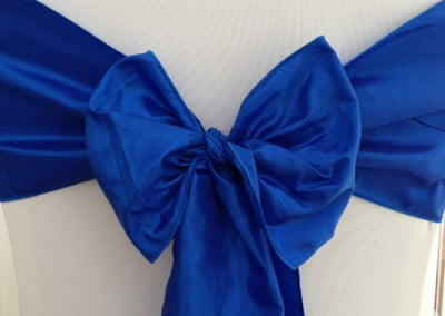 Royal Blue Taffeta Sash