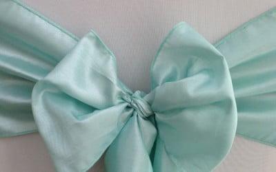 Tiffany Blue Taffeta Sash