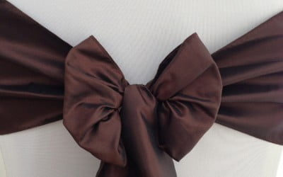 Ultra Brown Taffeta Sash