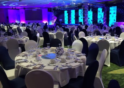Black or white corporate chair covers