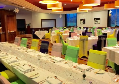 Coloured chair covers for hire