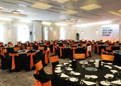 Black chair covers for hire