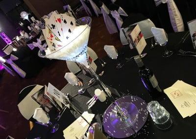 Corporate table centerpiece hire