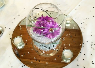 Corporate table centerpiece hire